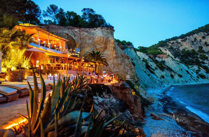 Dinner with a view in Ibiza