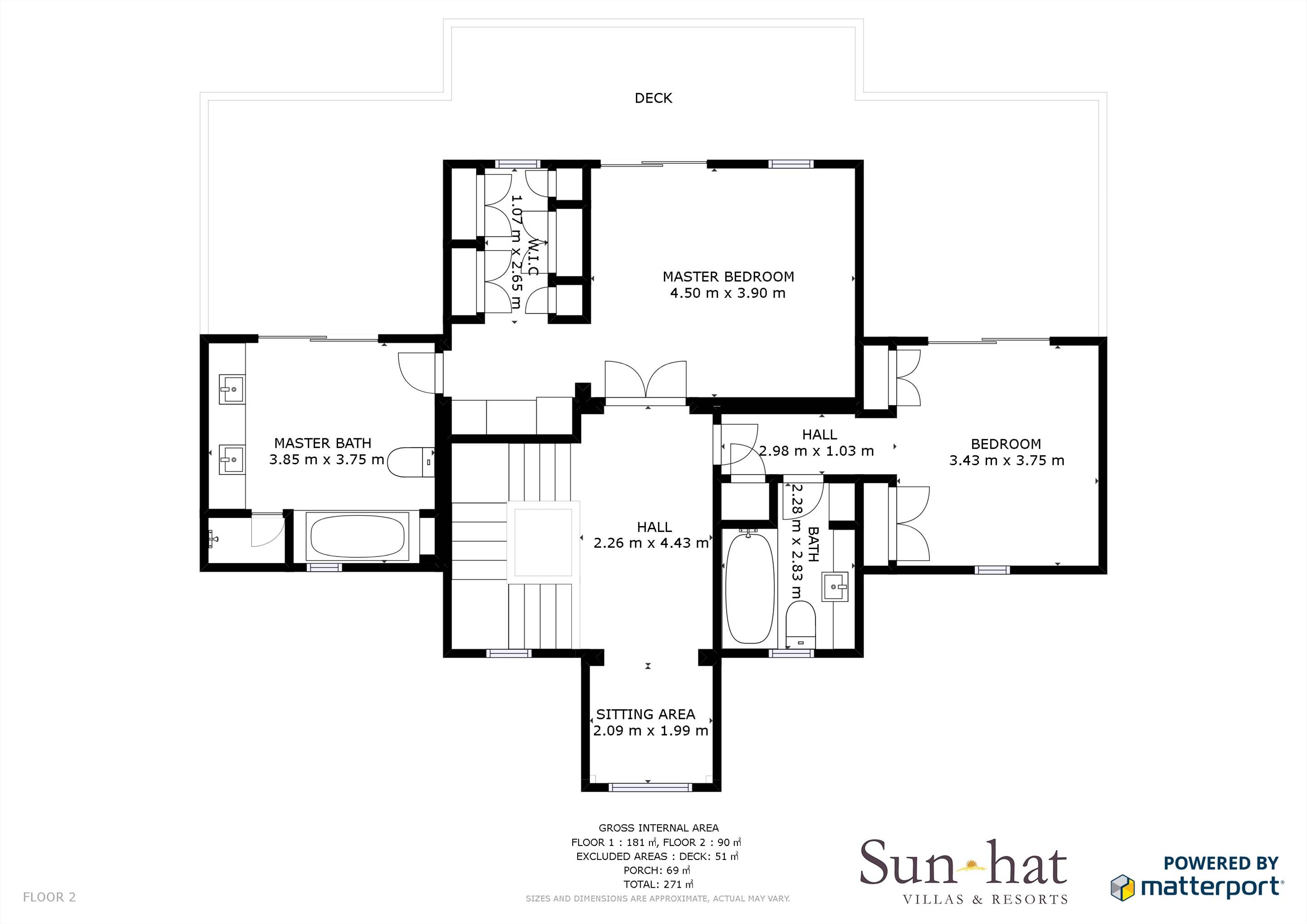 Villa Campainha, 4 Bedroom Rental Floorplan #2