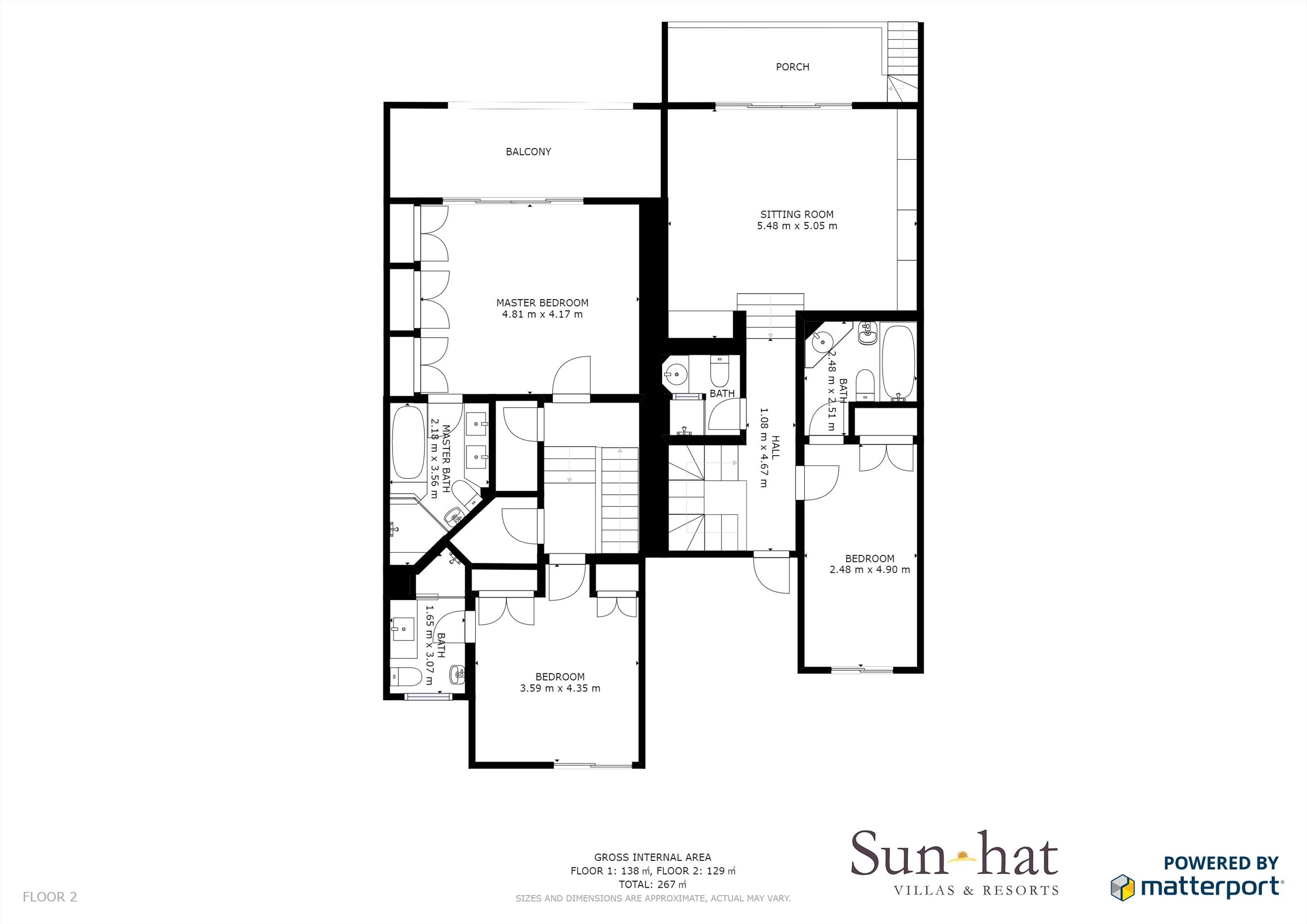 Villas Louisa, 3 bedroom Floorplan #2