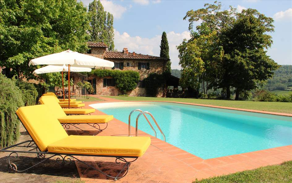 Villa Felicita, Main house and apartment, 10 persons rate, 5 villa in Chianti & Countryside, Tuscany