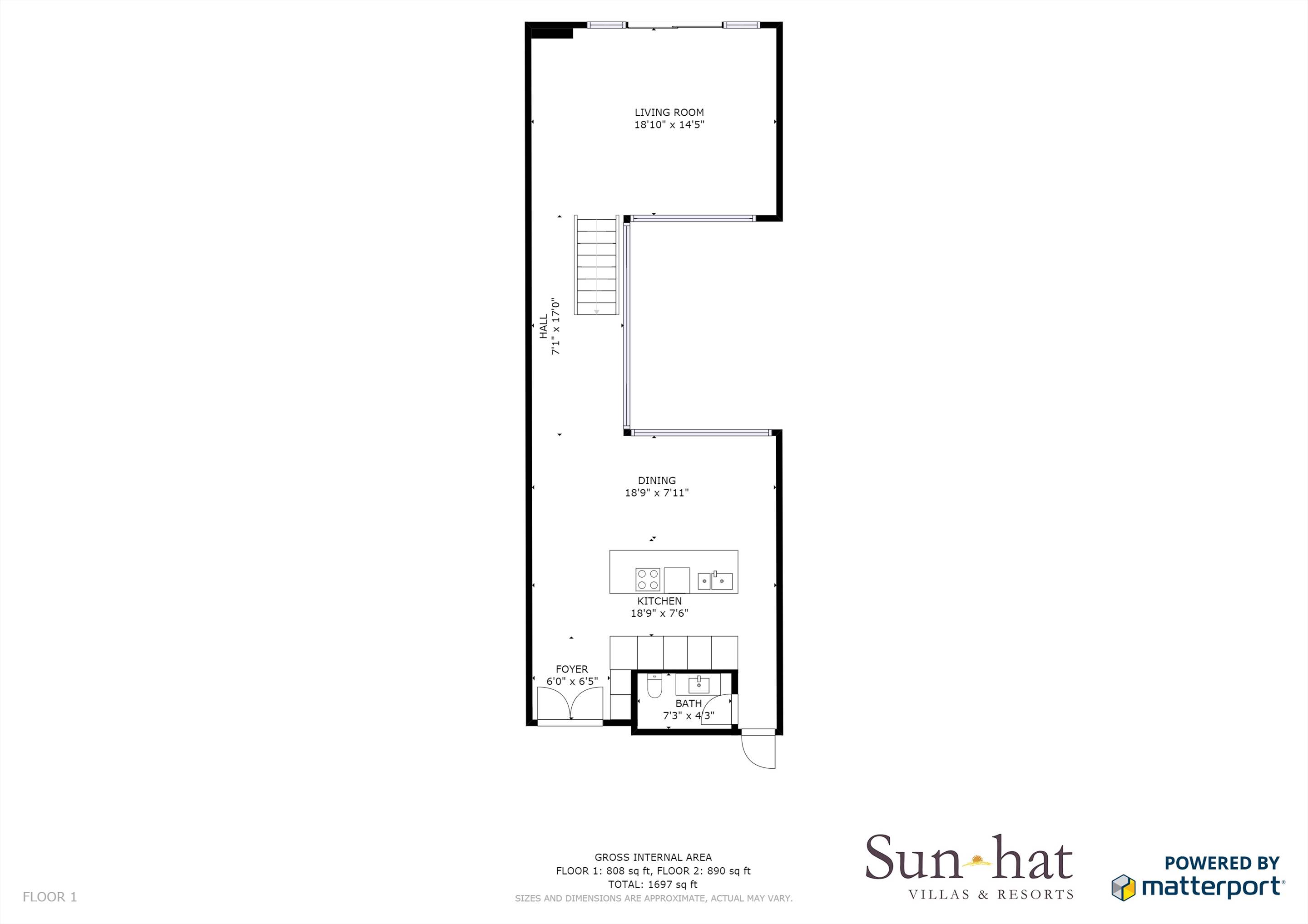 Pine Cliffs Terraces, 2 Bedroom, room only basis  Floorplan #1