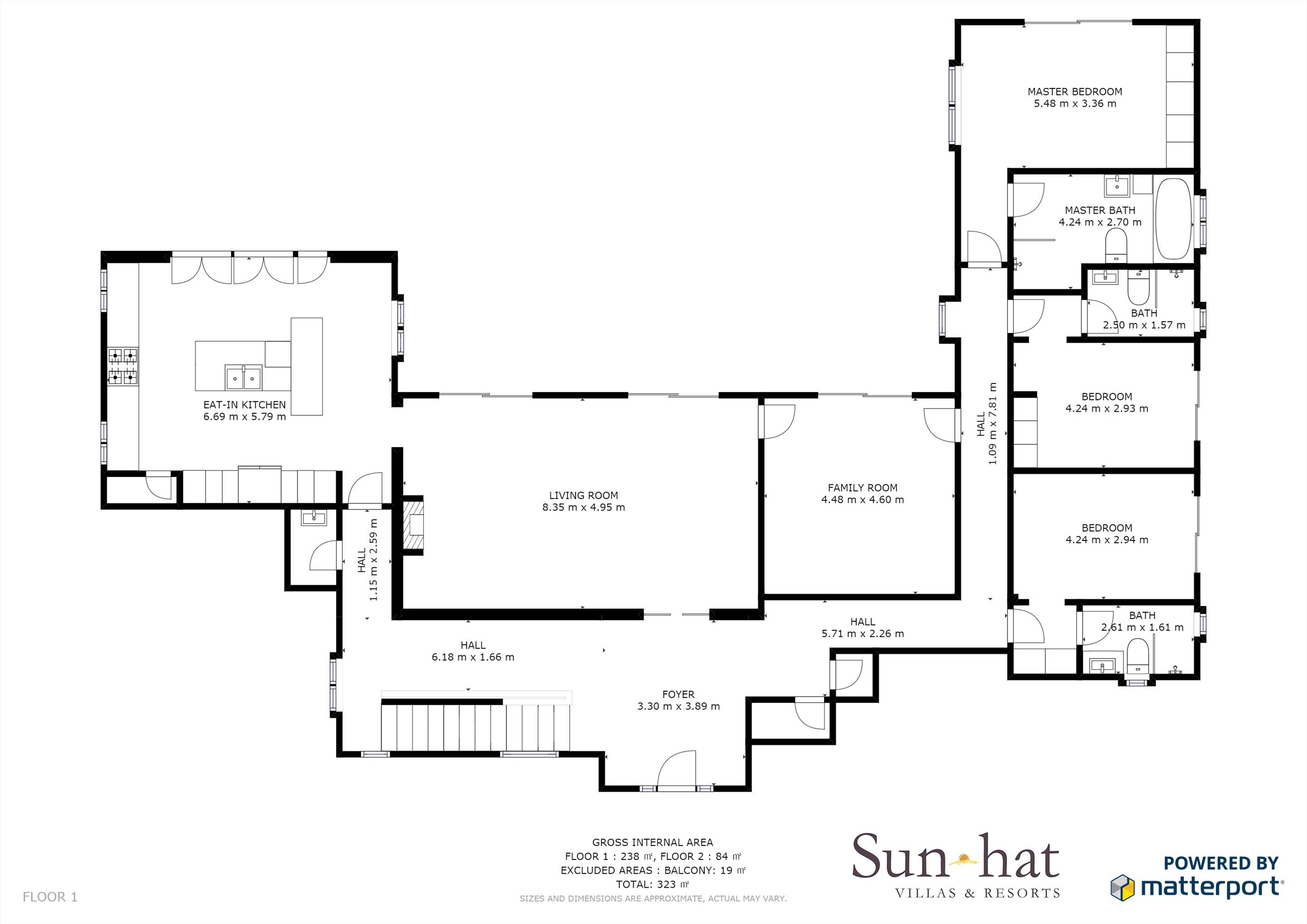 Villa Mar Azul Floorplan #1