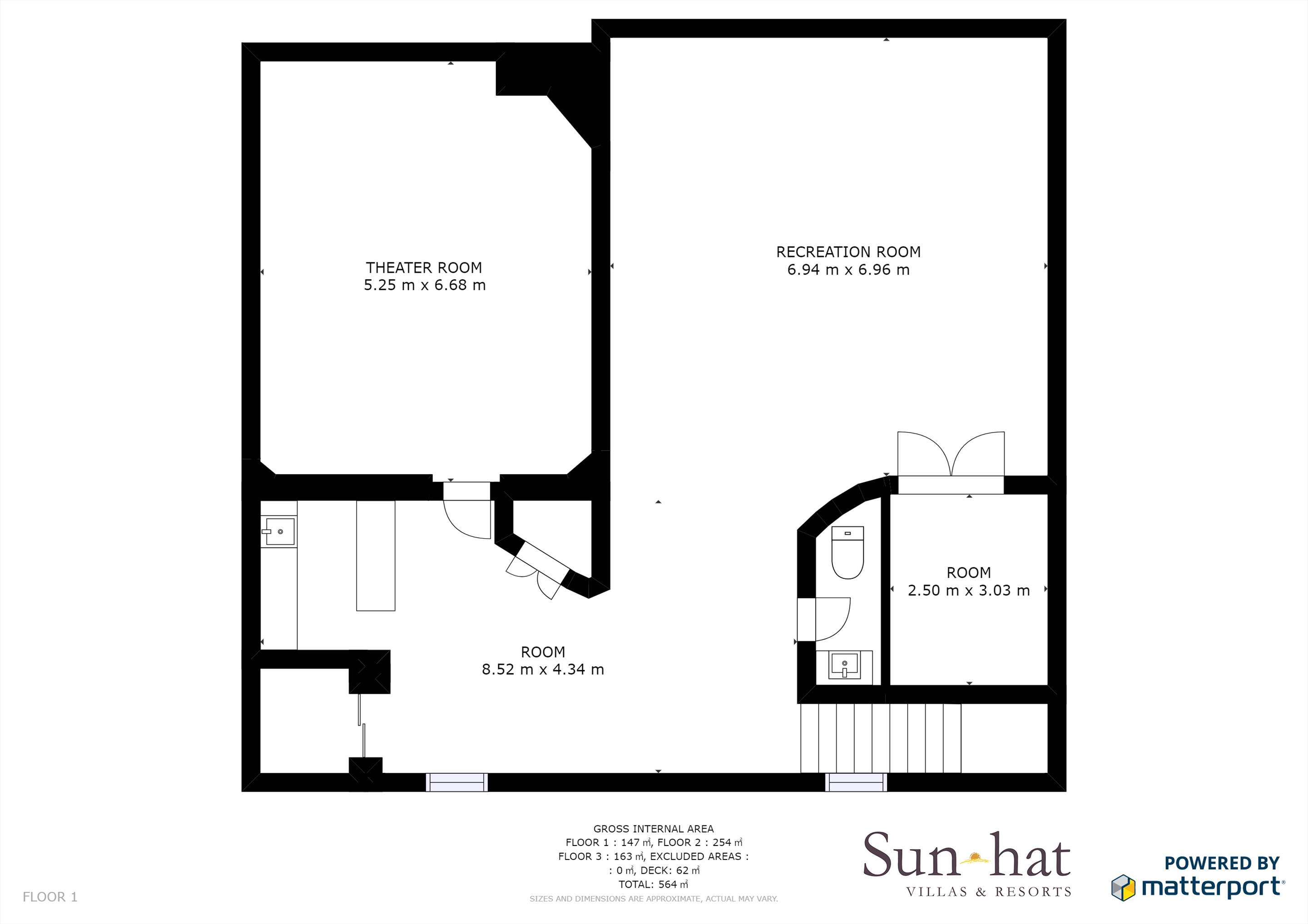 Villa Lantana 2, Main house & Annexe, 6 bedrooms Floorplan #1