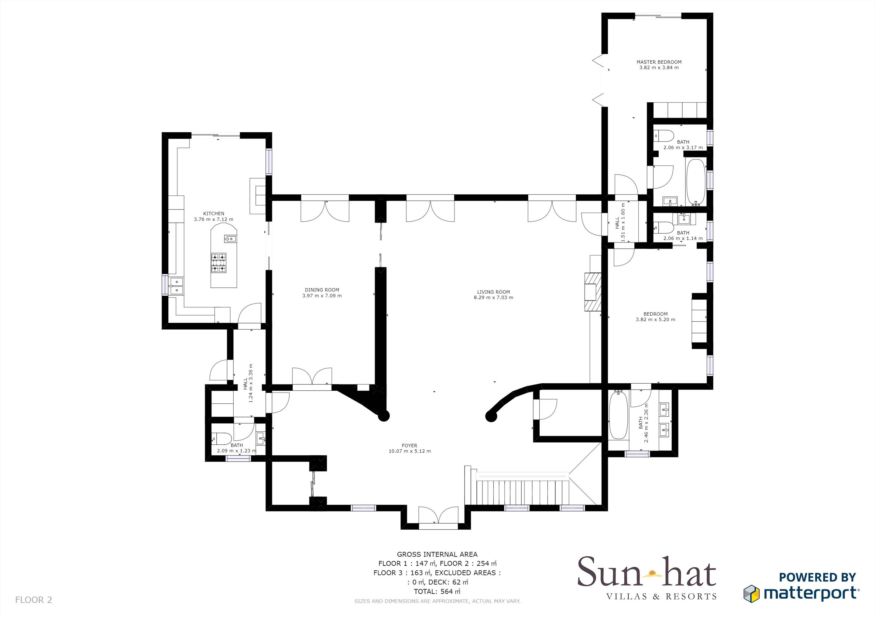 Villa Lantana 2, Main house & Annexe, 6 bedrooms Floorplan #2