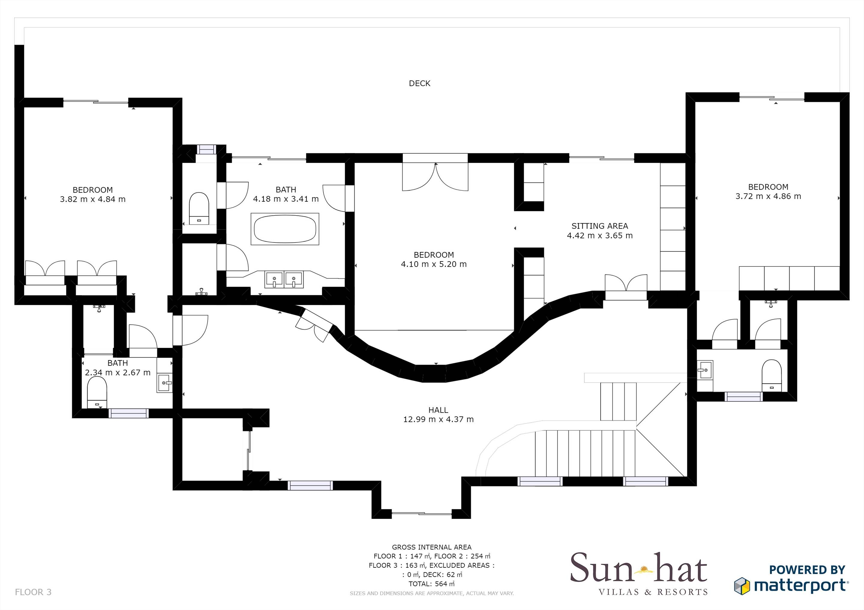 Villa Lantana 2, Main house & Annexe, 6 bedrooms Floorplan #3
