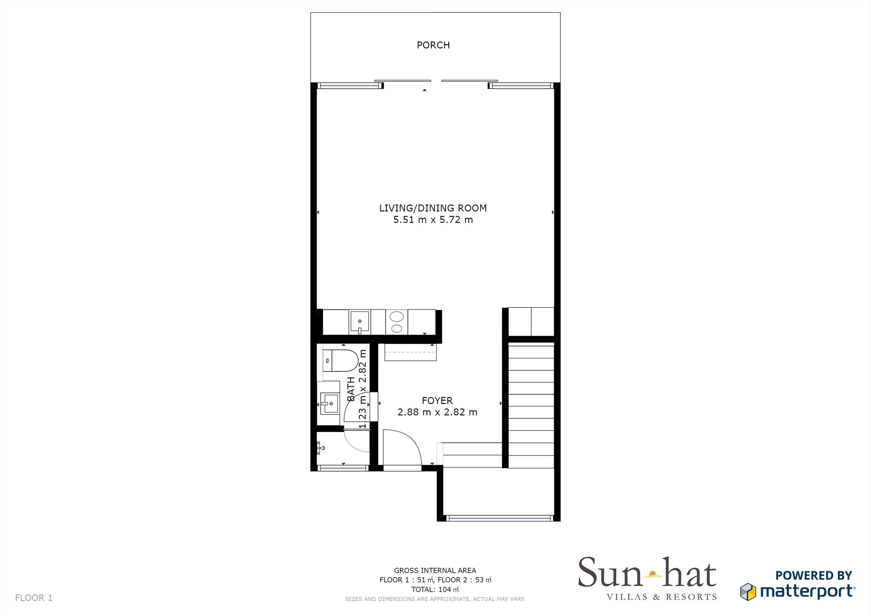 Sao Rafael Premium Two Bed Villa Sea View  Floorplan #1