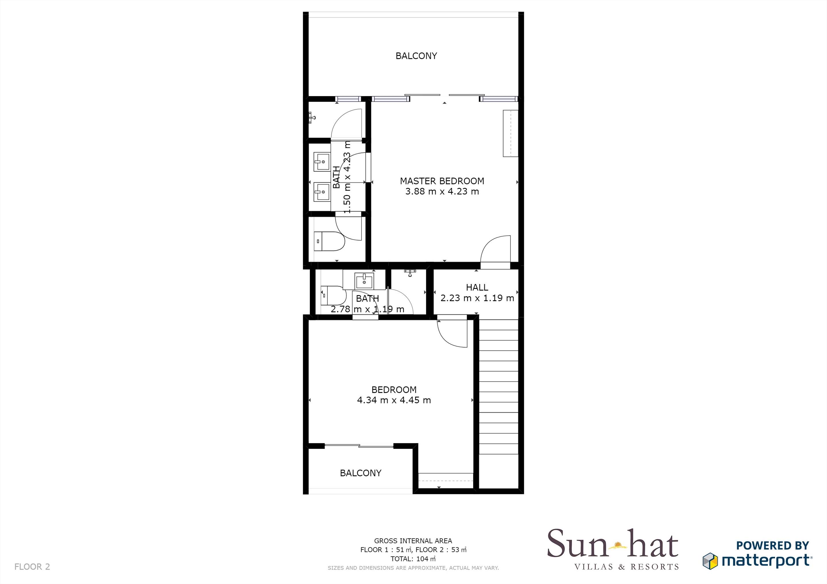 Sao Rafael Premium Two Bed Villa Sea View  Floorplan #2