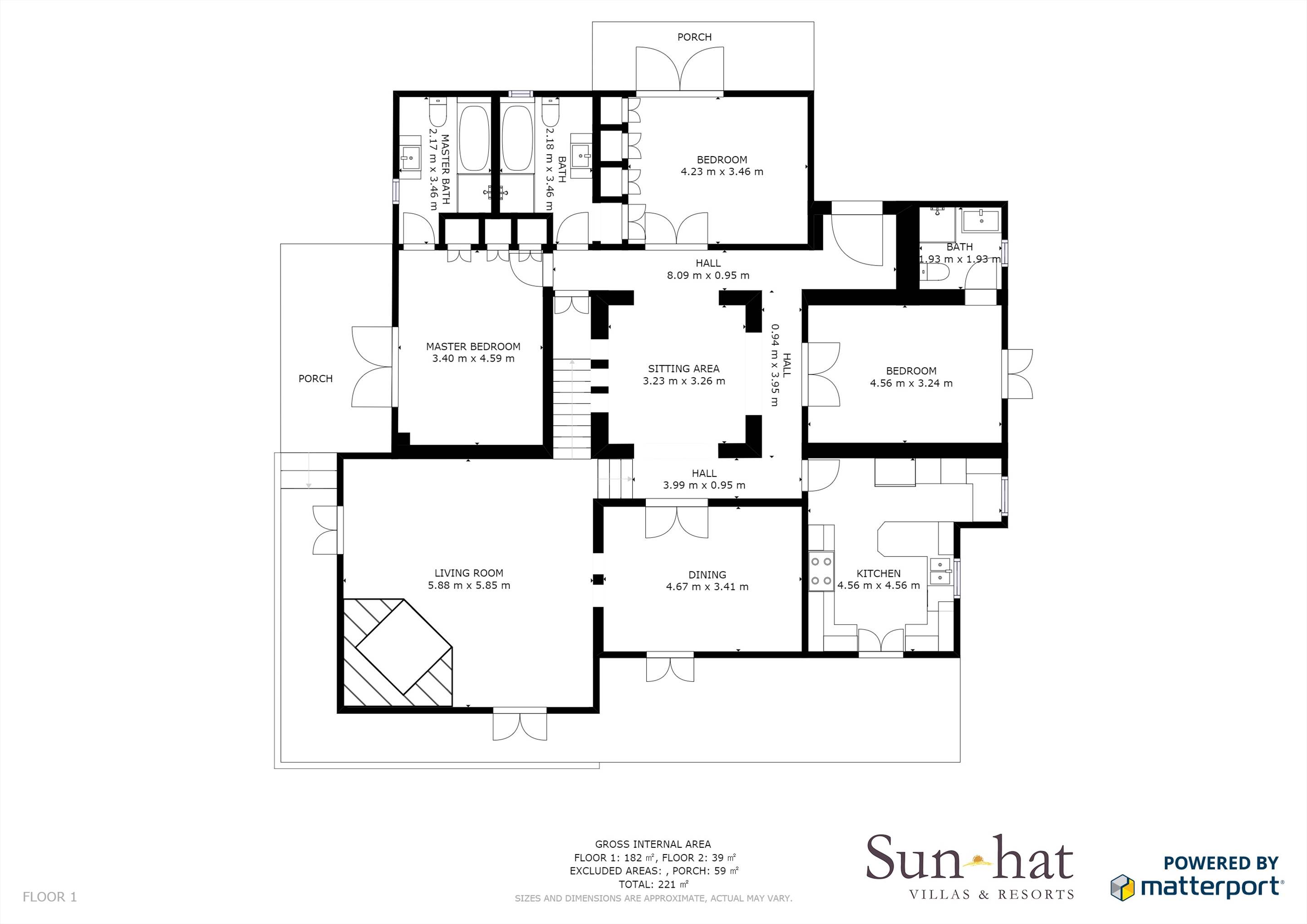 Pine Cliffs Villa Aurora Floorplan #1
