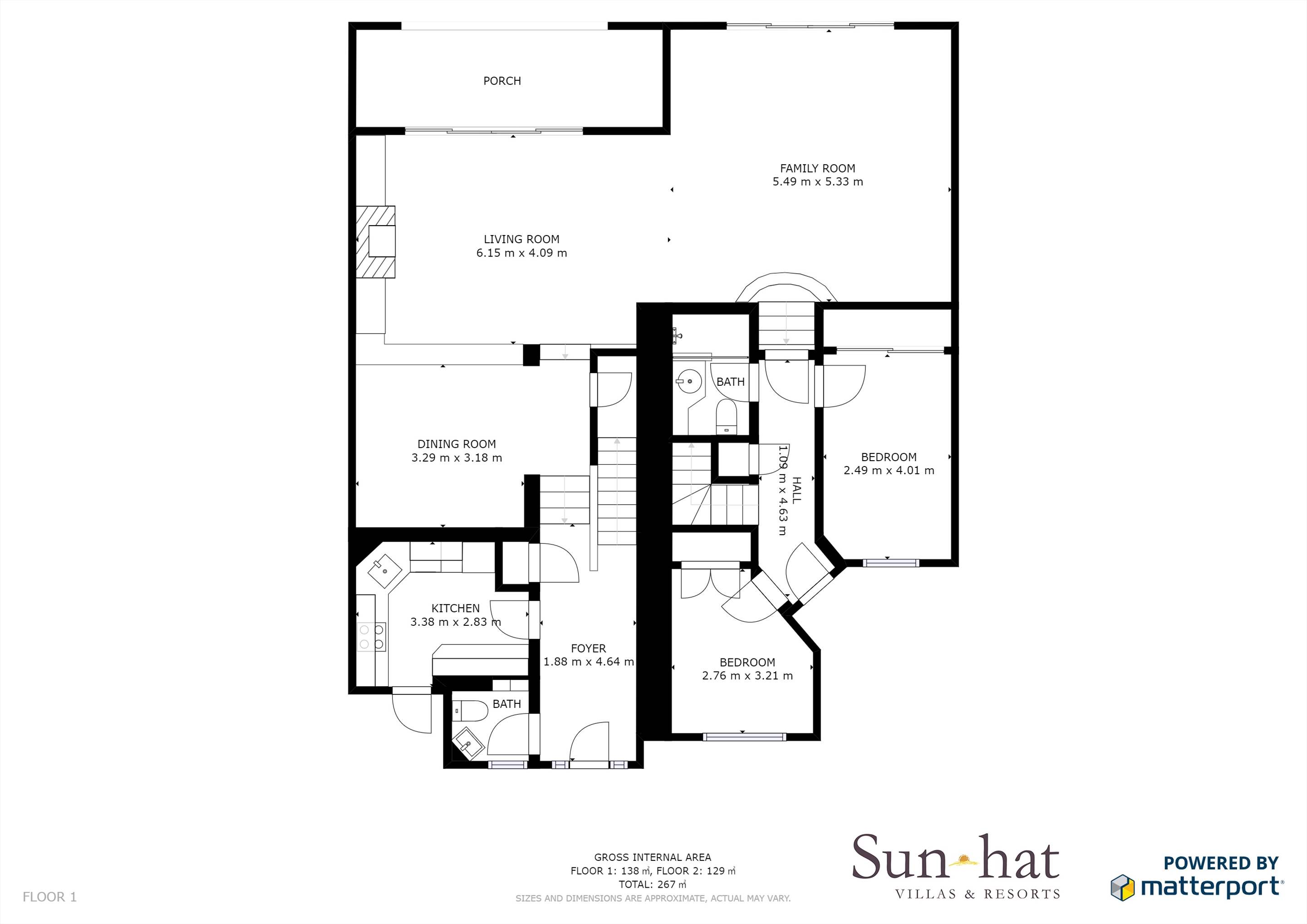 Villas Louisa, 4 Bedroom Floorplan #1